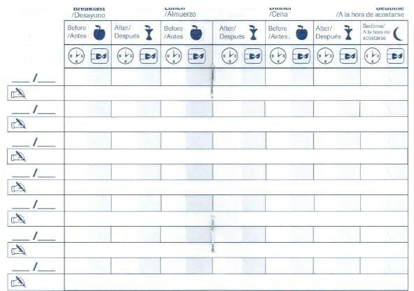 accu chek diabetes log book