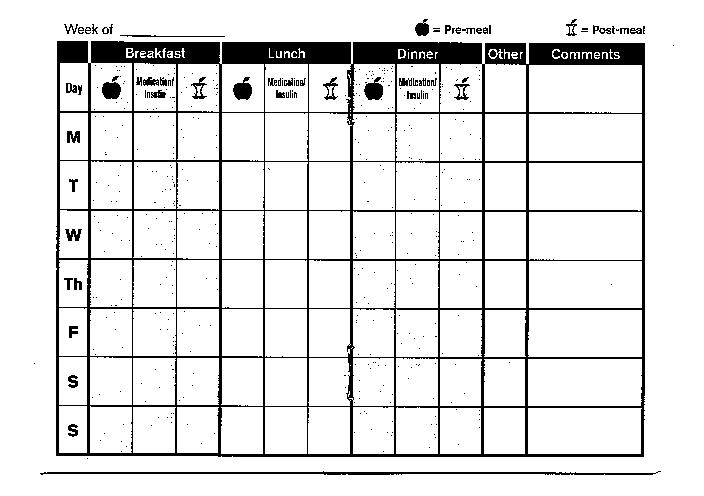 Free diabetic log book template music search engine at for Blood sugar log book template
